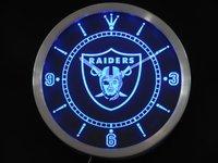 nc0512 Oakland Raiders Neon Sign LED Wall Clock Wholesale Dropshipping