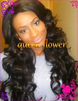 Unprocessed Cheap silk top full lace wigs Glueless medium 100% virgin brazilian Human Hair wigs