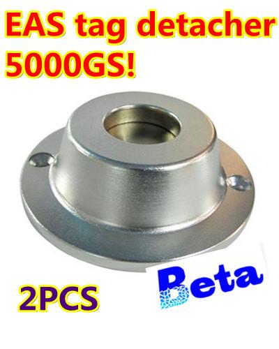2pc Universal Security Sensormatic Detacher Checkpoint EAS Hard Tag Detacher Remover 5000GS magnetism EAS accessories(China (Mainland))
