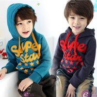 Male child autumn sweatshirt 2013 british style child with a hood sweatshirt outerwear fleece sweatshirt pullover