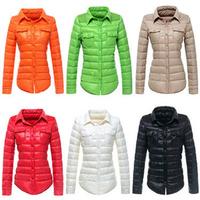 New 2014 Fashion Winter Parka Women Short Jacket 2014 Candy Color Turn-down Collar Down Coat Women Down Jacket Parka C090