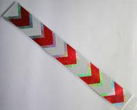 Free shipping,20pcs/lot(8Meter),  Parking lot PVC warning tape, Floor warning tape,40CMx5CM,JERT40-E,white+red color