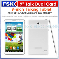 9inch Dual SIM Card Tablet PC P2000 GSM Phone Calling tablet MTK6515 512MB RAM Dual Camera 2.0MP Bluetooth WIFI
