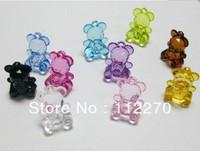 100pcs 19*14m Free shipping Crystal beads The acrylic 3D bear Pendants beads Jewelry Accessory