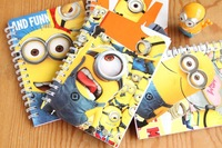 Free shipping 10pcs/lot Despicable Me book Fashion Cute minion Notebook cool stationery for gift