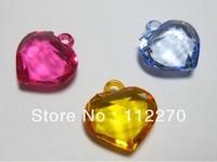 120pcs 22mm Free shipping The acrylic heart beads Pendants Hand Catenary Material