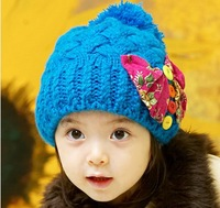 Princess autumn and winter female child hat child knitted hat bow fashion beret hat