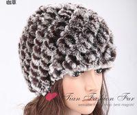 free shipping fashion women hats real rex rabbit fur woven caps newfur hat