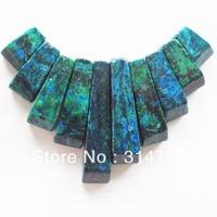 (Min.order 10$ mix) Lapis Lazuli with Chrysocolla Pendant Bead Set