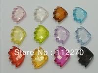 100pcs 23*16mm Free shipping Transparent fish beads Pendants DIY Accessory