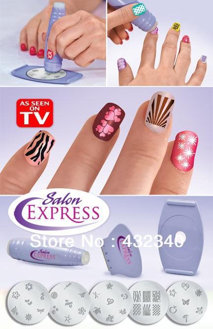 Nail Art As Seen On TV Nail Art Stamping Kit Nail Stencil Kit(China