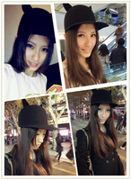 2012 little demon of street style cat ears pure woolen equestrian cap cartoon cap
