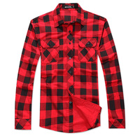 2013 male preppy style 100% cotton high quality fashion design personalized plaid long-sleeve shirt