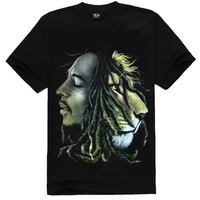 Personalized men's 2013 loose o-neck short-sleeve T-shirt 3d stereo print headcounts