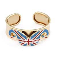 Elegant UK Flag Beard Bangle Bracelet/Metal Mustache Bangle