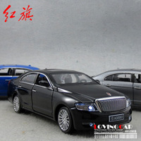 Plain alloy red flag review car special vehicle alloy car model
