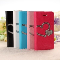 The new for iphone5 metal stick PU mobile phone holster - heart
