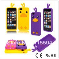 Retail 1PCS High Quality Cute 3D Chick Chicken Soft Silicone Cover Case Skin For iphone 5 5G 5th 5S, Free shipping