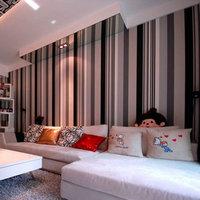papel de parede Plain Stripe Cream Grey Black White Dark Vinyl Wallpaper Wall Paper Roll Modern Feature Vertical Striped