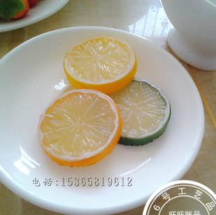 Lemon fake fruit plastic kitchen cabinet model decoration fruit orange