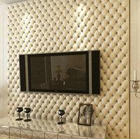 3D papel de parede rolls Luxurious imitation leather soft bag wallpaper roll