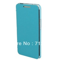 Free Shipping Mix Colour Fashion Translucent Plastic Flip Leather Case for HTC One