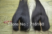 "Peruvian Virgin Lace Closure Swiss Lace 5X5"" Silk Straight Bleached Knots Middle Part Top CLosure Unprocessed hair Freeshiping"