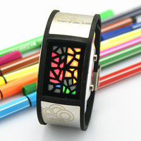 Male led dot matrix fashion robot male lovers novelty led watch