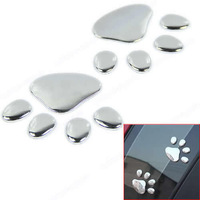 New Super Cool Dog Paw Car Body 3D Sticker Decal Metal Stylish Style