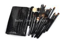 Professional BLACK High-grade Makeup Cosmetic Brush Kit 30 pcs Set + Leather Case 30 Pcs Makeup Brush Cosmetic Full Set Kit