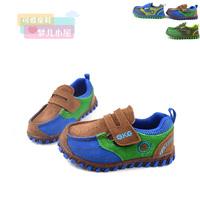 2 13 autumn child casual shoes children shoes male female child large children velcro leather sport shoes