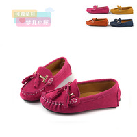 New arrival child 2013 Moccasins children shoes male female child large children genuine leather princess single shoes casual