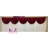 Swags For Wedding backdrop\Wedding Backdrop SwagsTable Skirt 3M Lenth*45CM Height Free Shipping