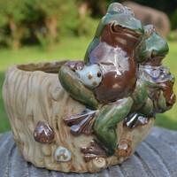 Zakka ceramic flower pot fleshier plant ceramic frog flower pot crafts balcony decoration