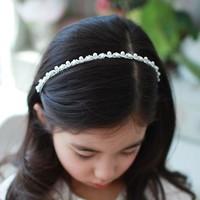 Child hair bands pearl rhinestone hair bands headband buckle hair pin child hair accessory