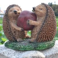 For dec  oration zakka fashion rustic home animal decoration crafts props resin hedgehog