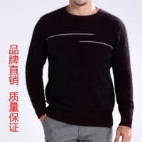 2012 male mink sweater pure marten velvet sweater mink sweater o-neck sweater