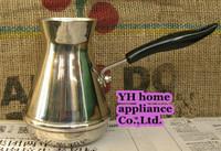 Free shipping Retro stainless steel Turkish coffee pot Handmade simple coffee maker MTK04