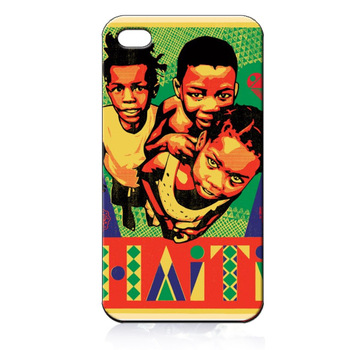 For iPhone 4 4S iphone 5 case OBEY ART RELIEF FOR HAITI  ILC2501 Soft TPU phone cover Wholesale Retail