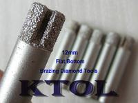 5pcs/lot 12MM shank Flat-End Millinging Tools CNC Diamond Cutter Stone Cutting Tool, 2D Milling Machining Very Strong