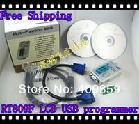NEW 2013 Mini LCD USB programmer RT809F+4adapter Serial ISP PC Repair Tools 24-25-93 serise IC RTD2120 Better than EP1130B
