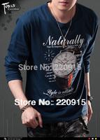 Long sleeve t shirt men spring Autumn, print shirts for men, O-neck casual t-shirt man young, retail&wholesale, free shipping