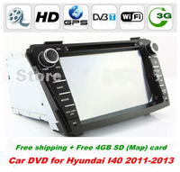 """Special HD 2 Din 7 """"Car PC for Hyundai I40 2011-2013 with GPS Navi Rdio BT 3D UI PIP TV Stereo support 3g/wifi + 4GB (Map) card"""