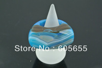Blue Agate Onyx Stone Rings with Surface Cutting Man's  Fashion Jewerly  Free Shipping 5 pc per lot