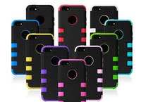 Robot PC silicone Case Heavy Duty Shock Proof  3 in 1 Case for iPhone 5C 5 c Cover Full Armour Impact Cover Best