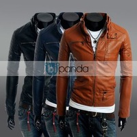 Free shipping 2013 foreign trade a zipper button men stand-collar jacket