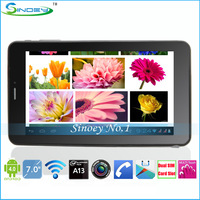 Wholesale 7 Inch Allwinner A13 Android Tablet 2G Phone For 50pcs Free Shipping 7 Inch A13 Dual 2G Single Core