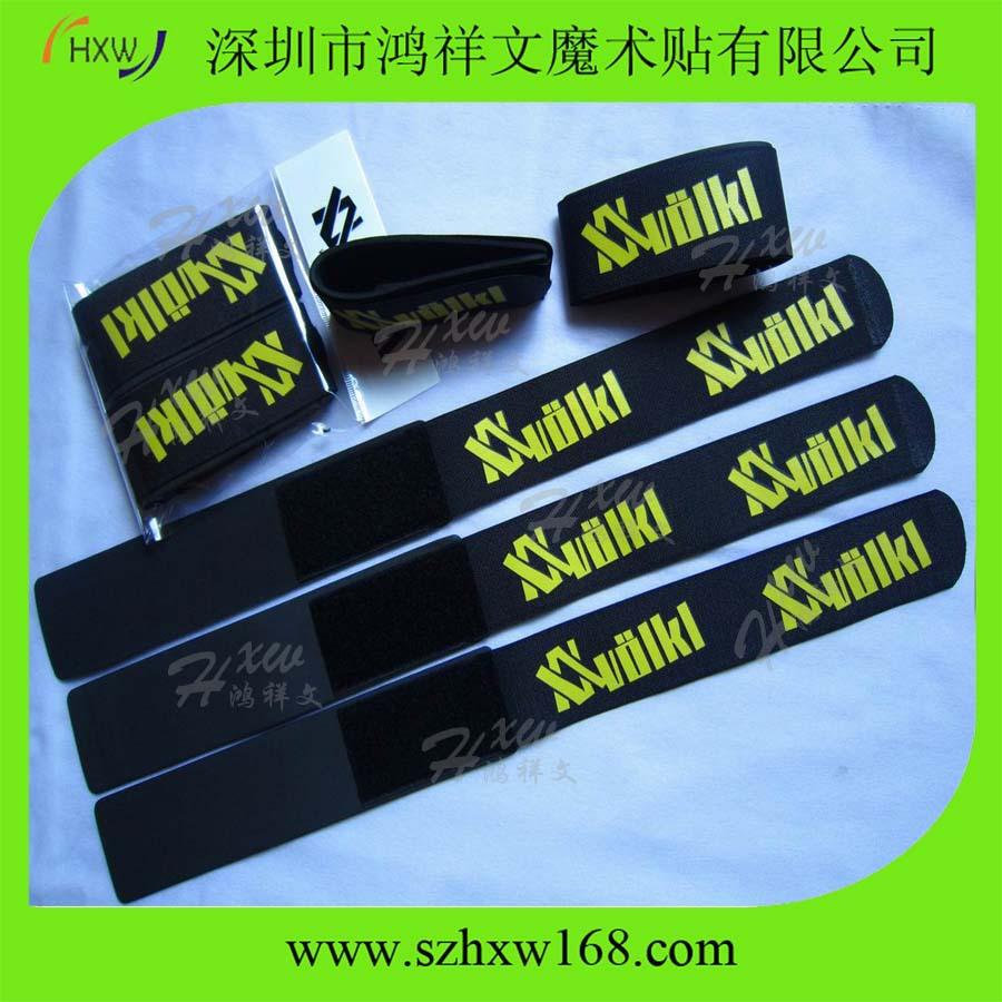 """Free shipping 2"""" X 21.65 """" Ski binding velcro customer required one logo printing(China (Mainland))"""
