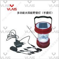 Multifunctional solar camping lamp band radio mobile phone charger 4v 3w solar lamp led