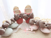 2013 gelato pique pearl bow mute soft outsole home slippers